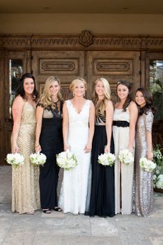 Metallic Bridesmaids Dresses | photography by www.amyandjordan.... |  floral design by www.petalsandlucy... | event design by www.laurakehoedes...