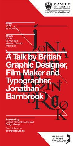Jonathan Barnbrook event poster