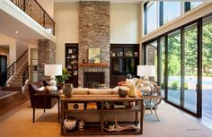 25 Cozy Living Room Tips and Ideas for Small and Big Living Rooms Big Living Rooms, Living Room Seating, Living Room Modern, Living Room Designs, Stonehenge, Transitional Living Rooms, Family Room Design, Home Decor Trends, House Design