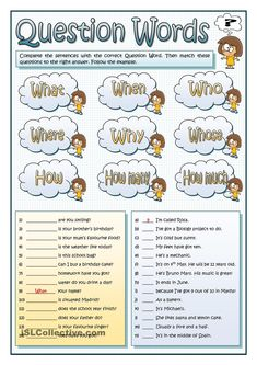 Printables Ged English Worksheets english we and the ojays on pinterest this worksheet revises most common question pronouns students fill in gaps with suitable wh word then they match these questions to their