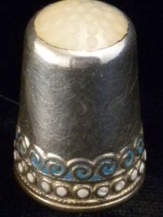 Antique Sterling Silver Thimble Enamel Opalescent Askel Holmsen Norway | eBay Aug 12, 2013 / US $157.50 / 5,175.81 RUB