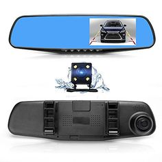 Dual Lens Car Camera, Oxygentle Rear View Reverse Mirror Backup Camera, 1080P Full HD Dash Cam Car Recorder DVR with 4.3 Inch Screen, 170-degree Wide Angle Lens with G-Senor. For product info go to:  https://www.caraccessoriesonlinemarket.com/dual-lens-car-camera-oxygentle-rear-view-reverse-mirror-backup-camera-1080p-full-hd-dash-cam-car-recorder-dvr-with-4-3-inch-screen-170-degree-wide-angle-lens-with-g-senor/