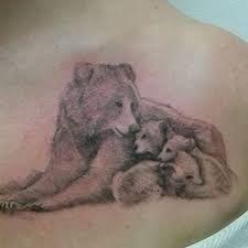 Bear barebacks tattoo cub