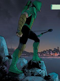 """(Green Arrow #2 """"Erasure"""" 2016) - Otto Schmidt"""