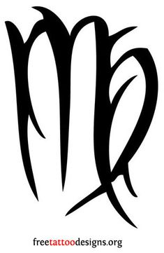 Virgo Symbol | Here's our gallery of Virgo symbol tattoos :
