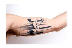 Organic Geometry tattoo, Industrial Geometry tattoo, architectural Geomtery tattoo, tatouage, maikatattooart, tattoobymaika