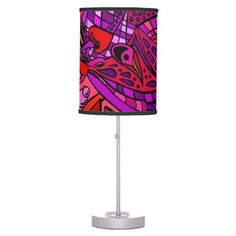 Red Two Zen Art Doodle Lamp $50.95 These abstract doodle art drawings are also known as Zentangles. These flowing doodle graffiti type images meld together in peaceful symmetry. Colored in reds, this is our fun spin on this design. Great gifts for those who love reds!