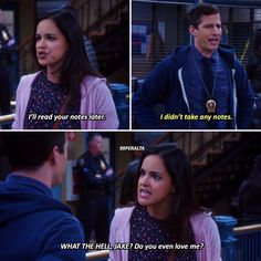 Brooklyn 9, Brooklyn Nine Nine Funny, Jake And Amy, Movie Lines, The Fault In Our Stars, Funny Relatable Memes, Favorite Tv Shows, Movies And Tv Shows, Just In Case