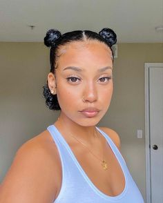 Natural Hair Styles, Curly Hair Styles, Natural Hair Care, Glowy Skin, Natural Glowy Makeup, Black Is Beautiful, Pretty Black Girls, Hair Inspo, Hair Inspiration