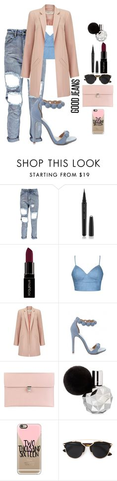 """DISTRESSED DENIM"" by dopegeezy ❤ liked on Polyvore featuring мода, Marc Jacobs, Smashbox, Ally Fashion, Miss Selfridge, Alexander McQueen, Casetify и Christian Dior"