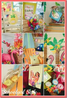 Luau or beach classroom theme. LOVE IT!!!