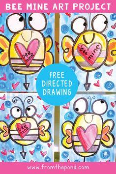 Valentine's Day Directed Drawing and Art Project Valentinstag gerichtetes Zeichnen und Kunstprojekt Painting For Kids, Drawing For Kids, Art For Kids, Drawing Lessons, Art Lessons, First Grade Art, Directed Drawing, Valentines Art, Kindergarten Art