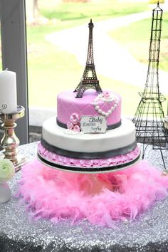 Pink Paris themed baby shower
