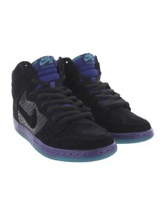 "Nike SB: Dunk High Premium ""Grape Ice"" (Black/Black-Grape Ice)"