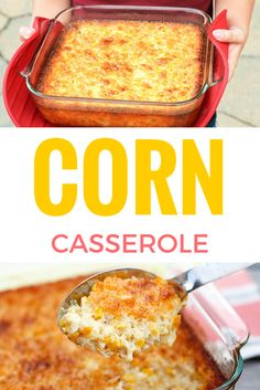 So delicious is this creamed corn casserole -- so good you'll want to scrape the dish completely clean to get every last bit of caramelized goodness from the corners! Corn Dishes, Veggie Side Dishes, Vegetable Dishes, Vegetable Recipes, Cream Corn Casserole, Casserole Dishes, Casserole Recipes, Thanksgiving Recipes, Holiday Recipes