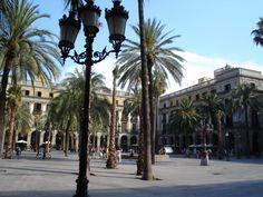 Plaça Reial, Barcelona, Catalunya, España