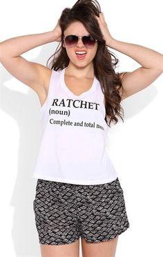 Deb Shops Deep Armhole Tank Top with Ratchet Definition Screen $9.75 Cute shirt!!!