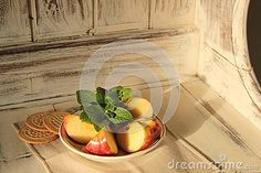 Apple An Mint On Wooden - Download From Over 33 Million High Quality Stock Photos, Images, Vectors. Sign up for FREE today. Image: 54920093