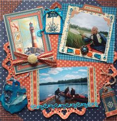 Canoeing at Lake Manitowish - Scrapbook.com - Gorgeous By the Sea collection by Graphic 45