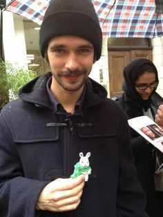 Ben Whishaw in a hat: Jamie incognito.