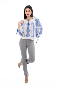 Dare to wear it! #romanianblouse #traditionalembroidery #peasantblouse