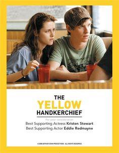 2008 The Yellow Handkerchief It stars William Hurt, Kirsten Stewart... I only saw this movie on TV but enjoyed watching it.