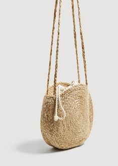 Jute fabric Small Criss-cross Double straps Lining Lace-upDiscover the latest trends in Mango fashion, footwear and accessories.Bags for Women Cross Body, Bucket Bag, Bag Women, Jute Fabric, Jute Bags, Knitted Bags, Handmade Bags, Kind Mode, Criss Cross