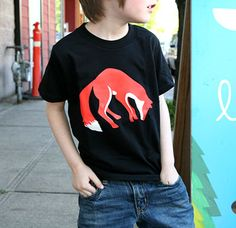 fox t-shirt for the littles • nikki mcclure • via buyolympia