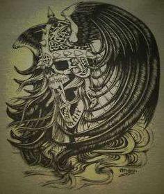 Skull Helmet Harley Biker Tattoo Death Pagan viking Hanes Beefy T %100