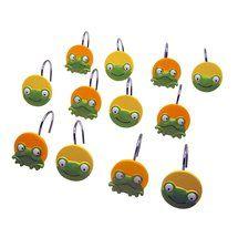 Walmart: Mainstays Peeking Frogs Decorative Bath Collection   12 Piece  Shower Hooks