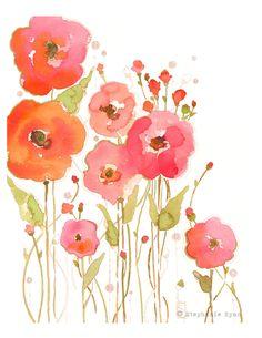 Watercolor Art Print Banded as One by stephanieryanart on Etsy