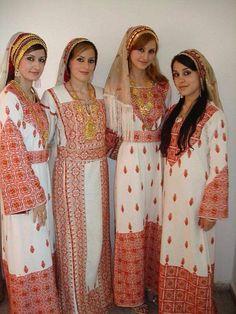 Palestinian folk costumes.