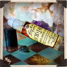 LUCID DREAM Elixir 1/3oz. BODY OIL Rollon. Scent of Opium Musk. Blessed by Moldavite, Amethyst & Clear Quartz Crystals. Lucid Dreaming Techniques, Oils For Life, Easy Rolls, Dream Bath, Deep Thinking, Deep Meditation, Natural Essential Oils, Sweet Almond Oil, Fragrance Oil