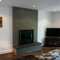 fireplace ideas, modern, slate - Google Search
