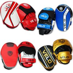 VELO Focus Pad Boxing Punch Bag Gloves Hook Jab Pads Muay Thai Mitts Curved MMA