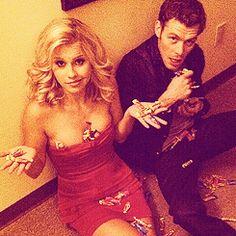 The Vampire Diaries, Claire Holt & Joseph Morgan