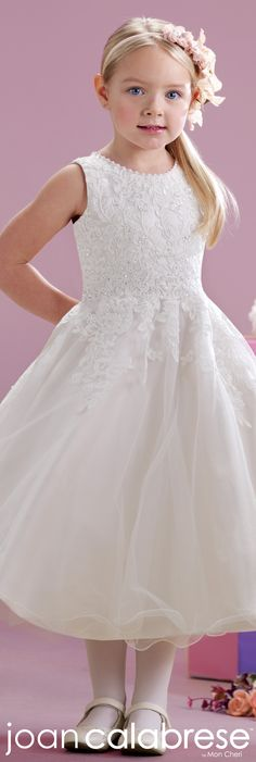 Joan Calabrese for Mon Cheri - Style No. 215349 #flowergirldresses