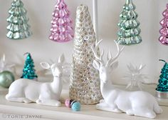 A Vintage affair Christmas mantle by Torie Jayne