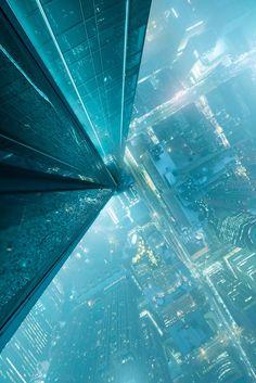 Trendy Ideas For Futuristic Concept Art Sci Fi Cyberpunk City Cyberpunk City, Arte Cyberpunk, Cyberpunk Aesthetic, Futuristic City, City Aesthetic, Futuristic Architecture, Space Architecture, Fantasy City, Sci Fi Fantasy