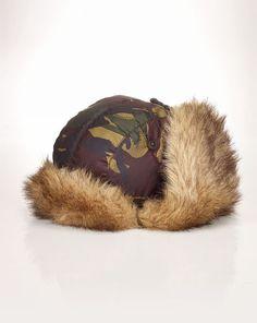 Camouflage Trapper Hat - Polo Ralph Lauren Hats - RalphLauren.com 36fa96ebfa2