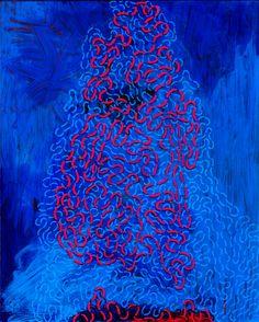 Paul Weiner. Acrylic paint and paint marker on plexiglass.