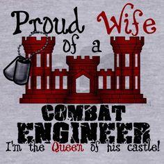Proud Wife of a Combat Engine Zip Hoodie on CafePress.com
