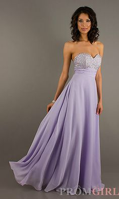 Strapless Sweetheart Floor Length Dress at PromGirl.com A-Line