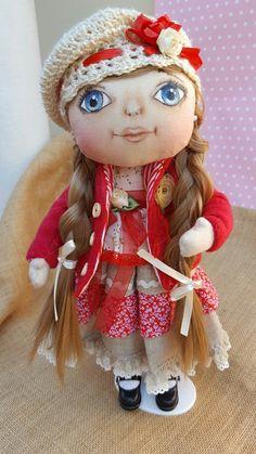 Muñeca carita pintada con colores pastel