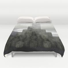 Shades of grey from Iceland Duvet Cover by prdart Shades Of Grey, Cover Art, Iceland, Duvet Covers, Black White, Throw Pillows, Interior Design, Bed, Furniture
