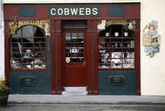 An old antique shop front in Galway, Ireland