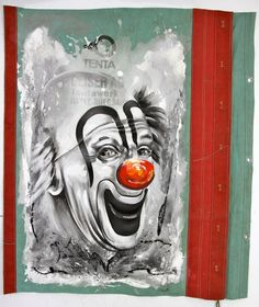 A Happy Clown, Oil on Linen