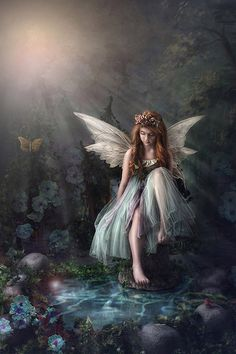 Fantastic fantasy added a new photo. Baby Fairy, Love Fairy, Beautiful Fantasy Art, Beautiful Fairies, Woodland Fairy, Forest Fairy, Unicorn And Fairies, Fantasy Fairies, Angels And Fairies