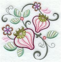 Machine Embroidery Designs at Embroidery Library! - A Vintage Jacobean Fruit Design Pack - Md