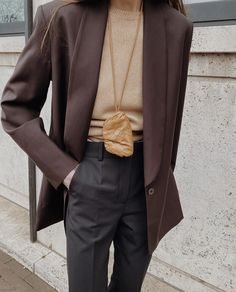 Yves Saint Laurent, Roll Neck Sweater, Oversized Blazer, Casual Chic, Personal Style, Suit Jacket, Trousers, Zara, Instagram